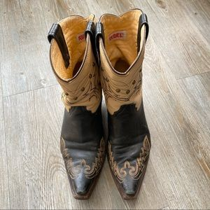 RUDEL | Worn Leather Cowboy Boots